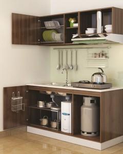 Tủ Bếp Gỗ Rẻ Đẹp 076D