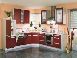 Tủ Bếp Gỗ Rẻ Đẹp 077D