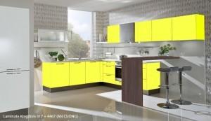 Tủ Bếp Gỗ Rẻ Đẹp 079D