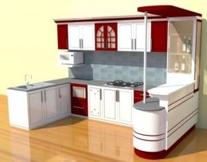 Tủ Bếp Gỗ Rẻ Đẹp 081D