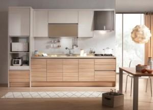 Tủ Bếp Gỗ Rẻ Đẹp 090D