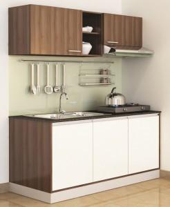 Tủ Bếp Gỗ Rẻ Đẹp 091D