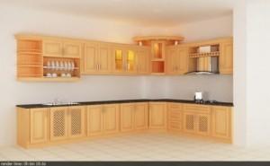 Tủ Bếp Gỗ Rẻ Đẹp 095D