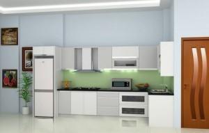 Tủ Bếp Gỗ Rẻ Đẹp 096D