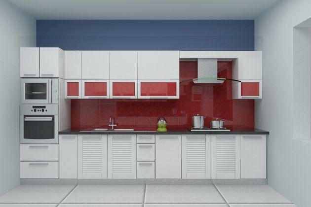 Mẫu tủ bếp hiện đại 13