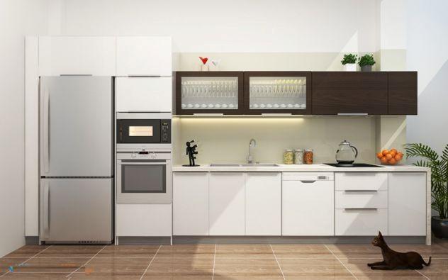Mẫu tủ bếp hiện đại 15
