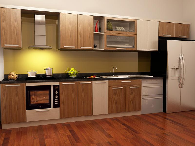 Mẫu tủ bếp hiện đại 19