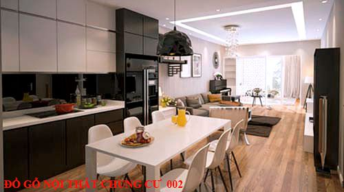 Đồ gỗ nội thất chung cư giá rẻ 002