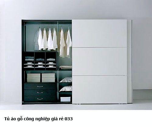 Tủ áo gỗ công nghiệp giá rẻ 033