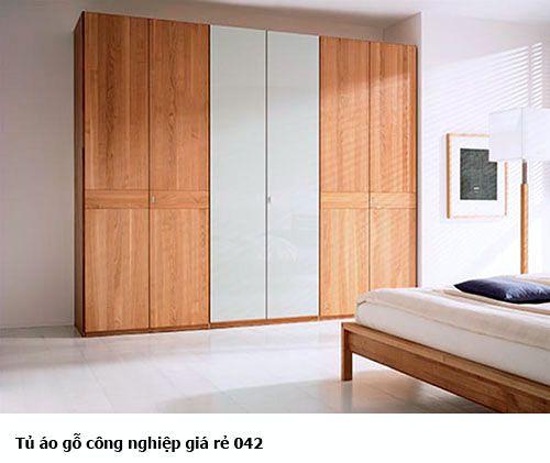 Tủ áo gỗ công nghiệp giá rẻ 042