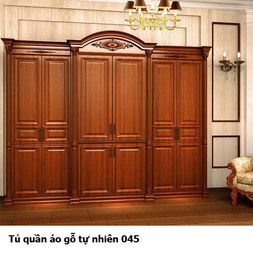 Tủ áo gỗ tự nhiên giá rẻ 045
