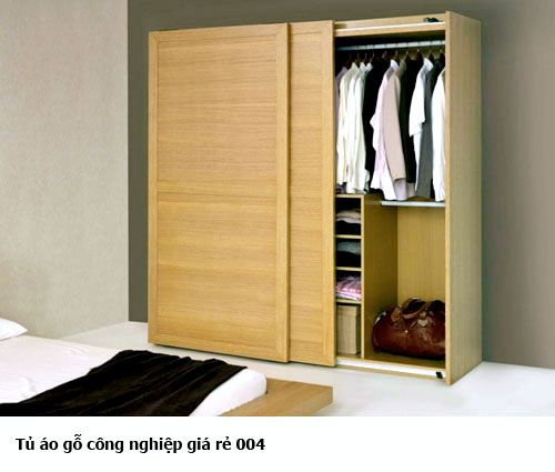 Tủ quần áo gỗ công nghiệp đẹp 004