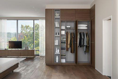 Tủ quần áo gỗ công nghiệp đẹp 010