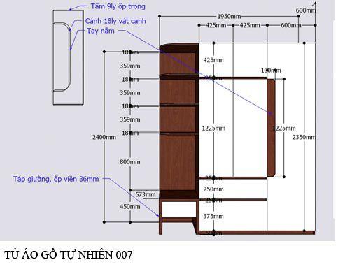 Tủ quần áo gỗ công nghiệp 007