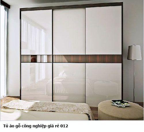 Tủ quần áo gỗ công nghiệp giá rẻ 012