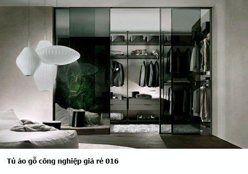 Tủ quần áo gỗ công nghiệp giá rẻ 016