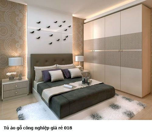 Tủ quần áo gỗ công nghiệp giá rẻ 018