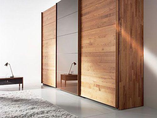 Tủ quần áo gỗ tự nhiên giá rẻ 002