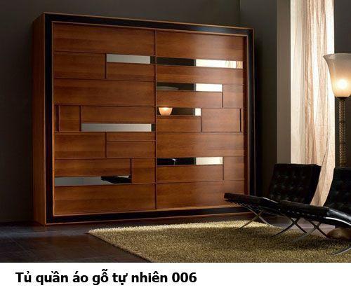 Tủ quần áo gỗ tự nhiên giá rẻ 006