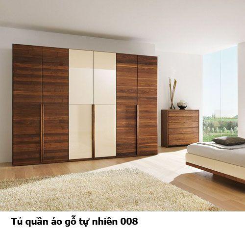 Tủ quần áo gỗ tự nhiên giá rẻ 008