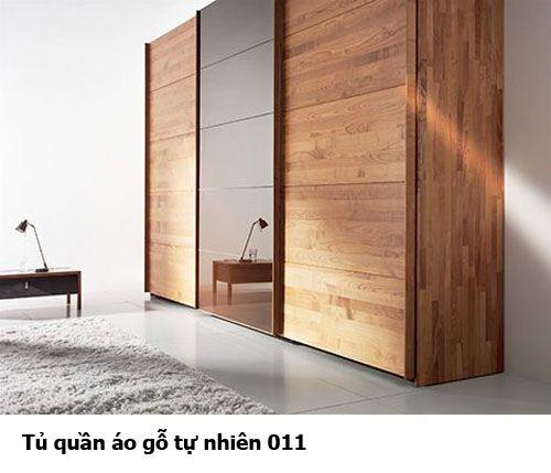 Tủ quần áo gỗ tự nhiên giá rẻ 011