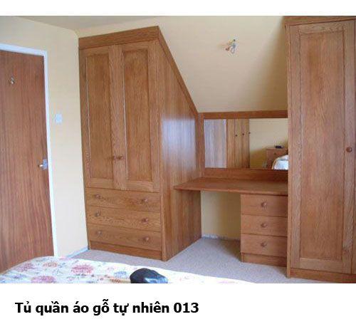 Tủ quần áo gỗ tự nhiên giá rẻ 013