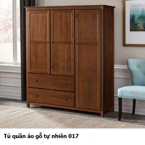 Tủ quần áo gỗ tự nhiên giá rẻ 017