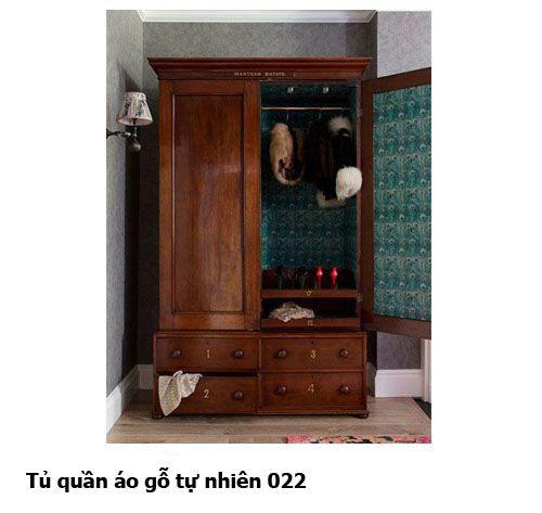 Tủ quần áo gỗ tự nhiên giá rẻ 022
