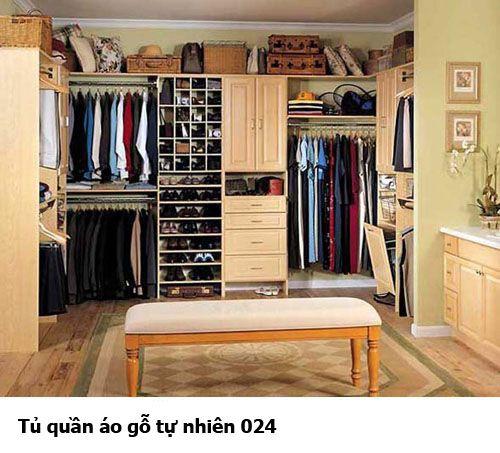 Tủ quần áo gỗ tự nhiên giá rẻ 024