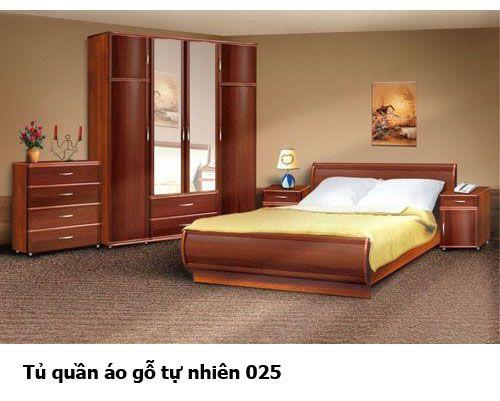 Tủ quần áo gỗ tự nhiên giá rẻ 025