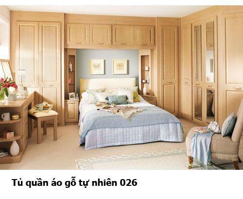 Tủ quần áo gỗ tự nhiên giá rẻ 026