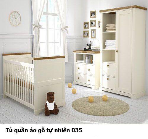 Tủ quần áo gỗ tự nhiên giá rẻ 035