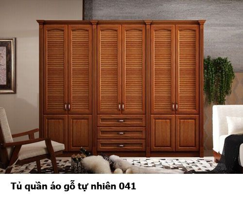 Tủ quần áo gỗ tự nhiên giá rẻ 041