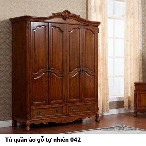 Tủ quần áo gỗ tự nhiên giá rẻ 042