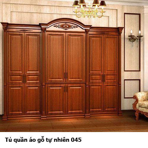 Tủ quần áo gỗ tự nhiên giá rẻ 045
