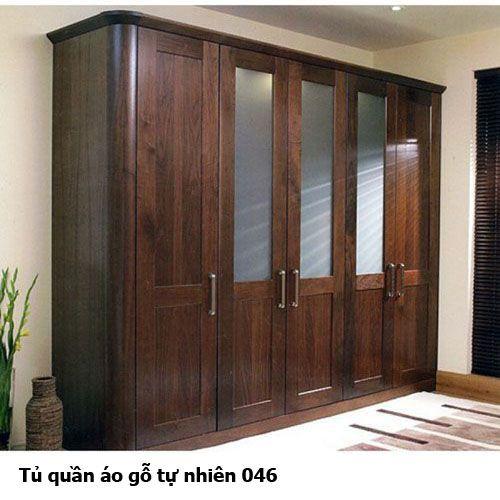 Tủ quần áo gỗ tự nhiên giá rẻ 046