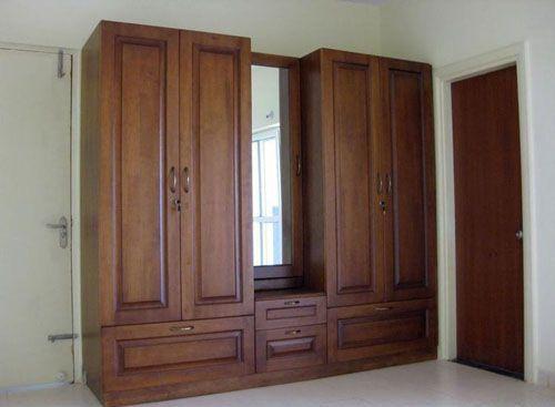 Tủ quần áo gỗ tự nhiên giá rẻ 047