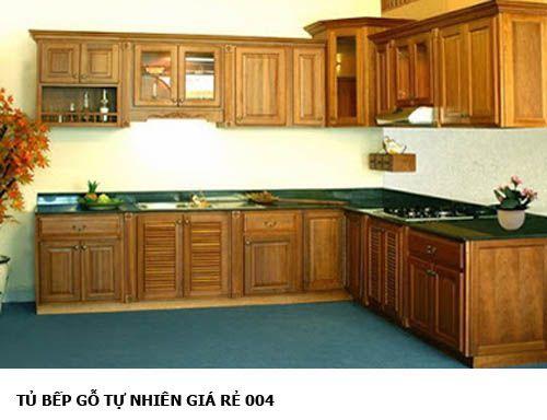 tủ bếp gỗ tự nhiên giá rẻ 004