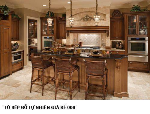 tủ bếp gỗ tự nhiên giá rẻ 008