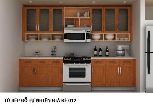 tủ bếp gỗ tự nhiên giá rẻ 012