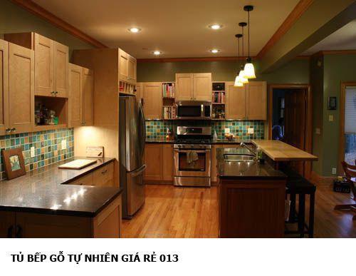tủ bếp gỗ tự nhiên giá rẻ 013