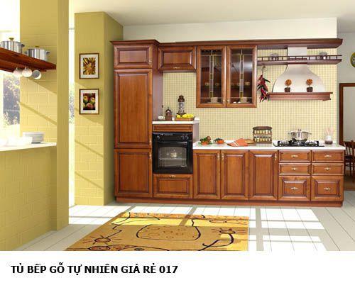 tủ bếp gỗ tự nhiên giá rẻ 017