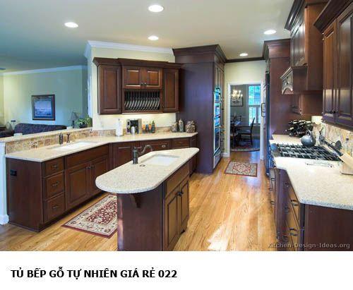 tủ bếp gỗ tự nhiên giá rẻ 022
