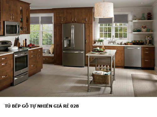 tủ bếp gỗ tự nhiên giá rẻ 028