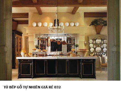 tủ bếp gỗ tự nhiên giá rẻ 032