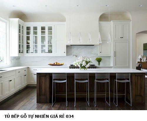 tủ bếp gỗ tự nhiên giá rẻ 034