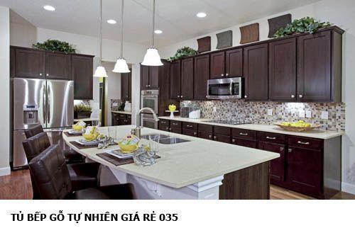 tủ bếp gỗ tự nhiên giá rẻ 035