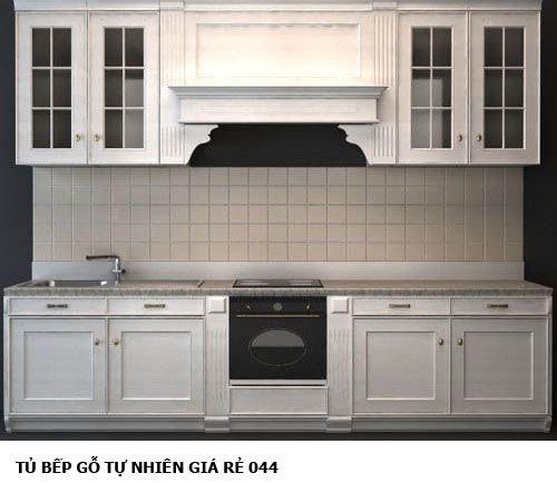 tủ bếp gỗ tự nhiên giá rẻ 044