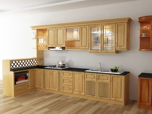 Kệ bếp gỗ tự nhiên 002