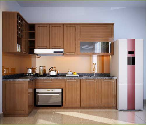 Kệ bếp gỗ tự nhiên 006